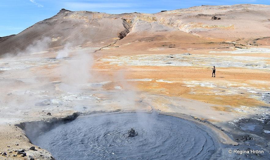 Regína At Hverarönd geothermal area North-Iceland