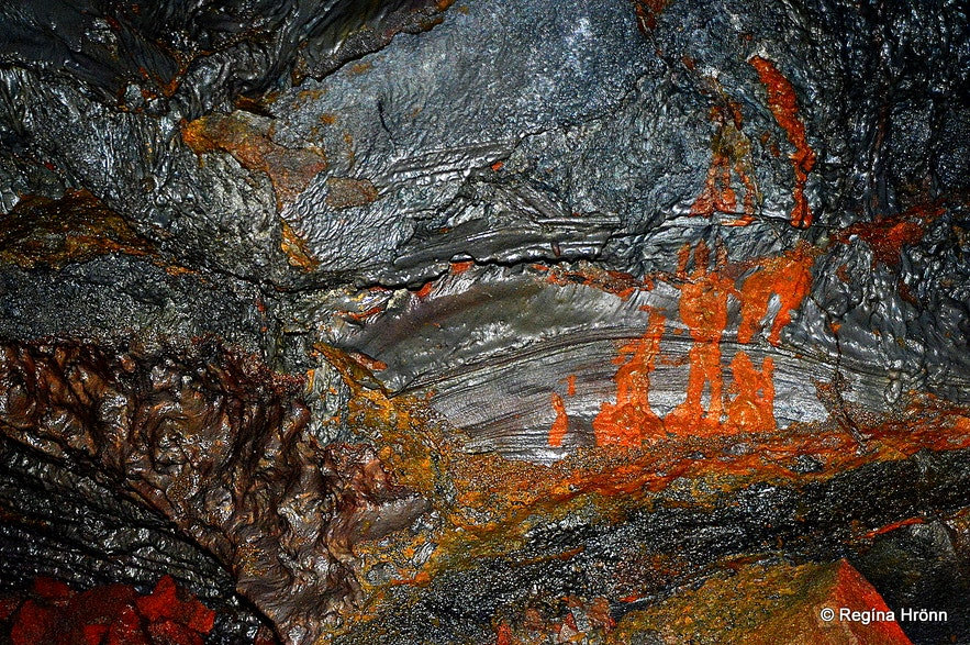 Raufarhólshellir lava cave in South-Iceland
