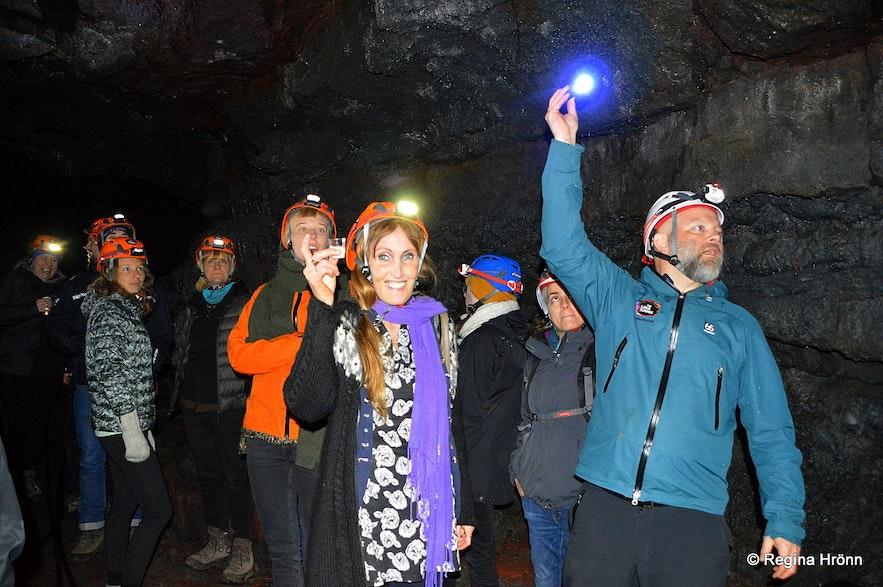 A guided tour of Raufarhólshellir lava cave