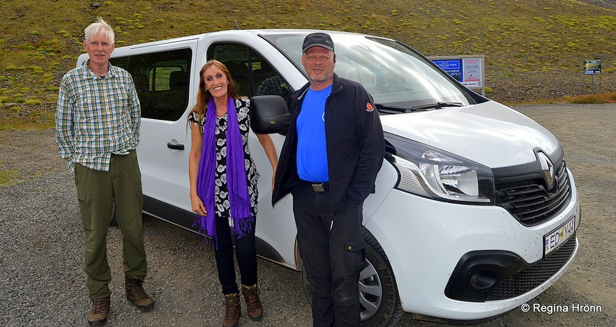 Regína with the guides of the tour of Westfjords