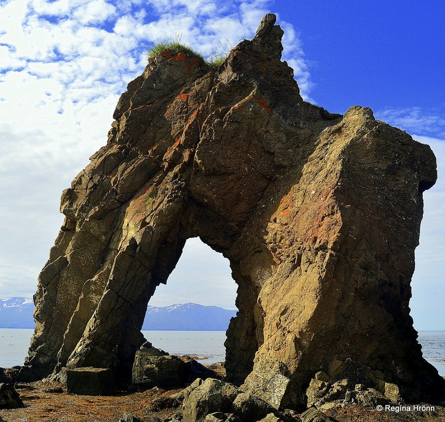 Gatanöf rock on the Tjörnes peninsula N-Iceland
