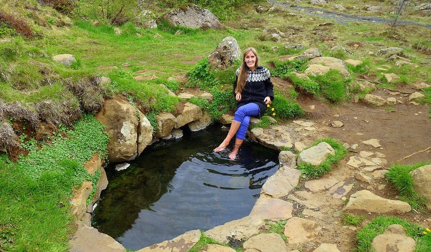 Krosslaug pool in Lundarreykjadalur West-Iceland