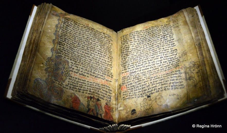 An old Icelandic manuscript at the Culture House in Reykjavík