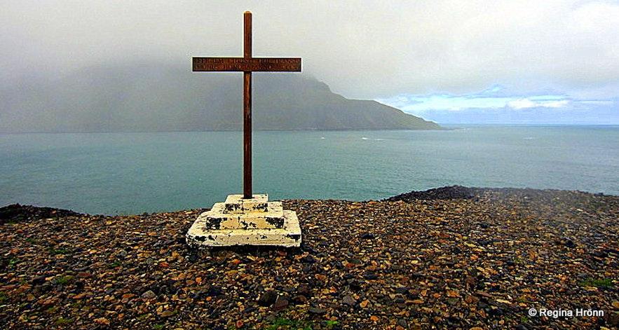 The cross at Njarðvíkurskriður - Borgarfjörður-Eystri