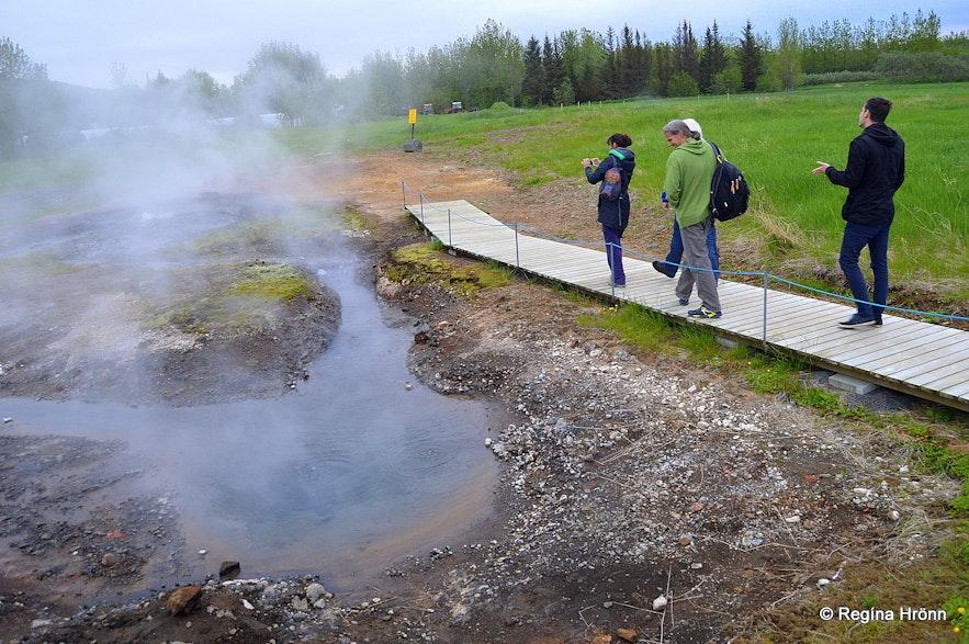 Secret lagoon geothermal area