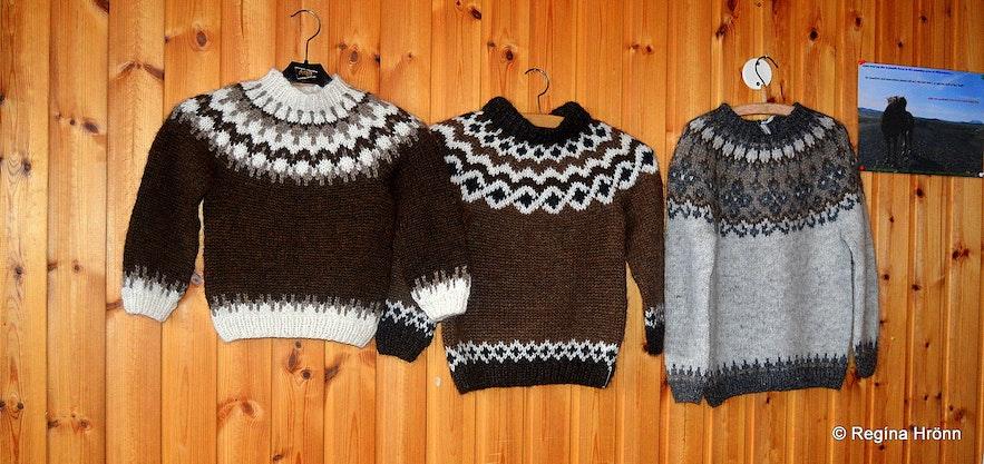 Icelandic sweaters for sale at Fjallakaffi