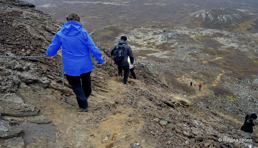 Eldborg Scoria Crater on Snæfellsnes in West-Iceland
