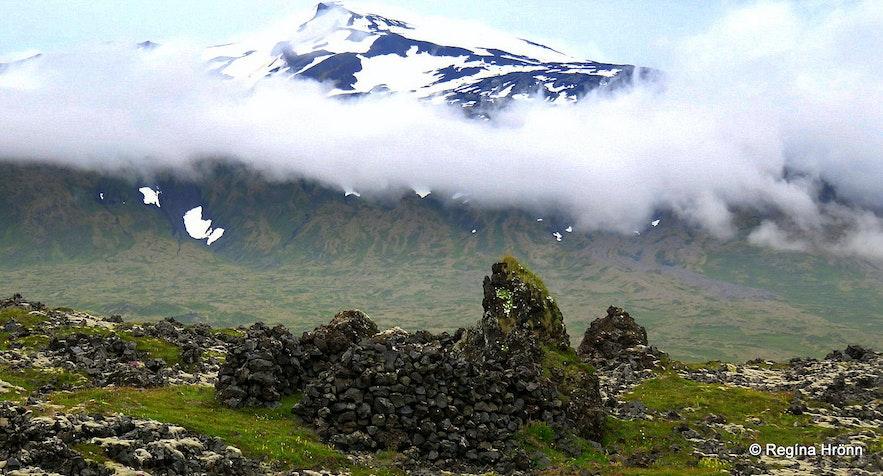 Dritvík Snæfellsnes ruins of fishermen's huts
