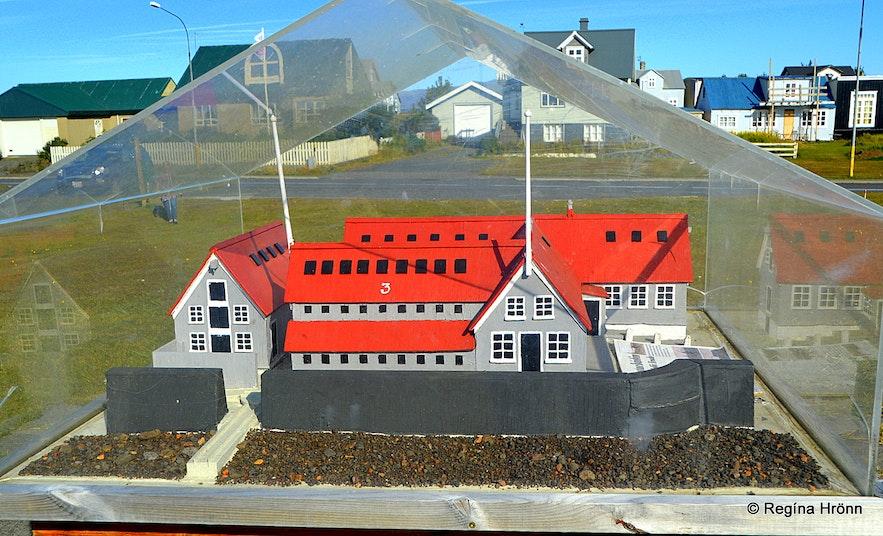 A model of the Vesturbúðin store of the Danish Lefolii-store at Eyrarbakki
