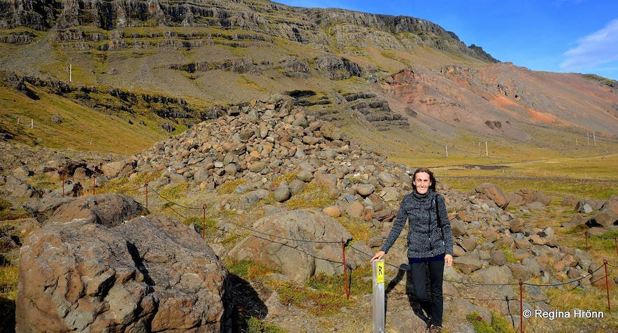 Regína by Djáknadys burial mound in East-Iceland