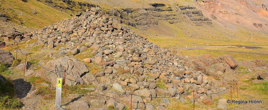 Djáknadys burial mound in East-Iceland
