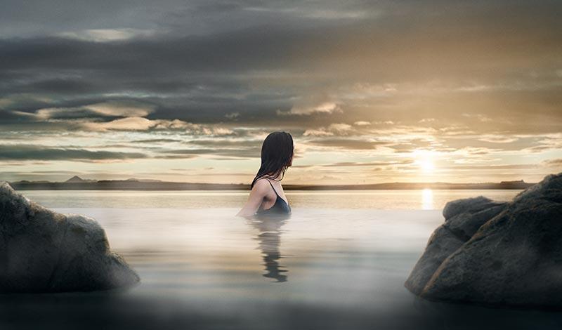 天空之湖(Sky Lagoon)的绝美景致