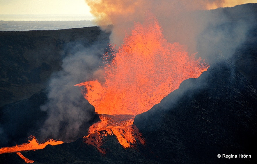 The volcanic eruption in Fagradalsfjall