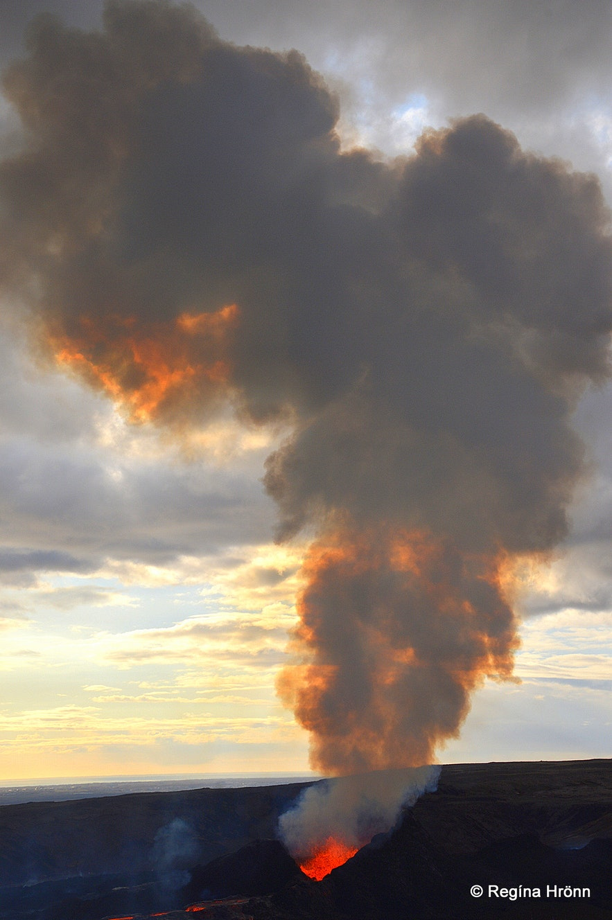 The volcanic eruption in Mt. Fagradalsfjall SW-Iceland
