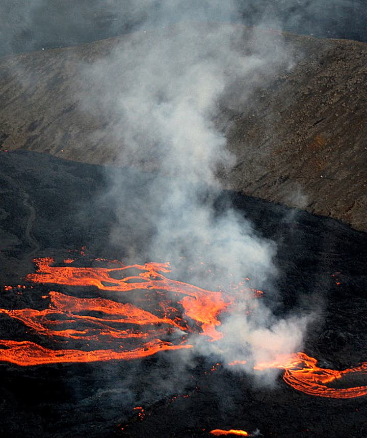 The volcanic eruption in Mt. Fagradalsfjall Iceland