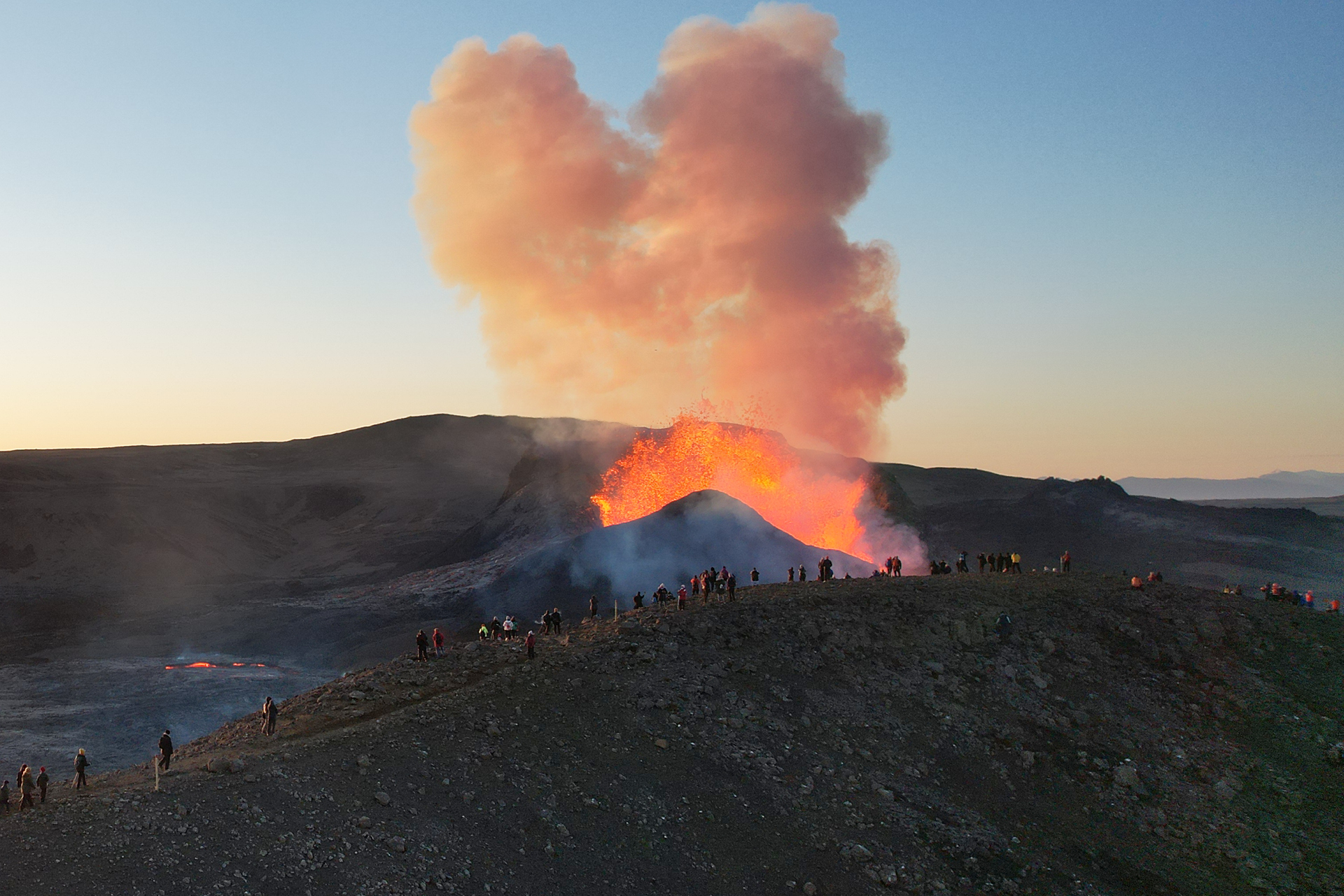 A magnificent view of Fagradalsfjall Volcano.