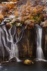 Hraunfossar is a waterfall in west Iceland.