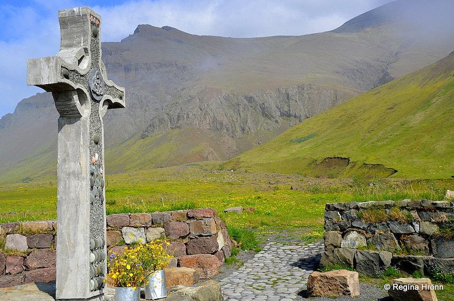 Kjalarnes outside memorial altar SW-Iceland