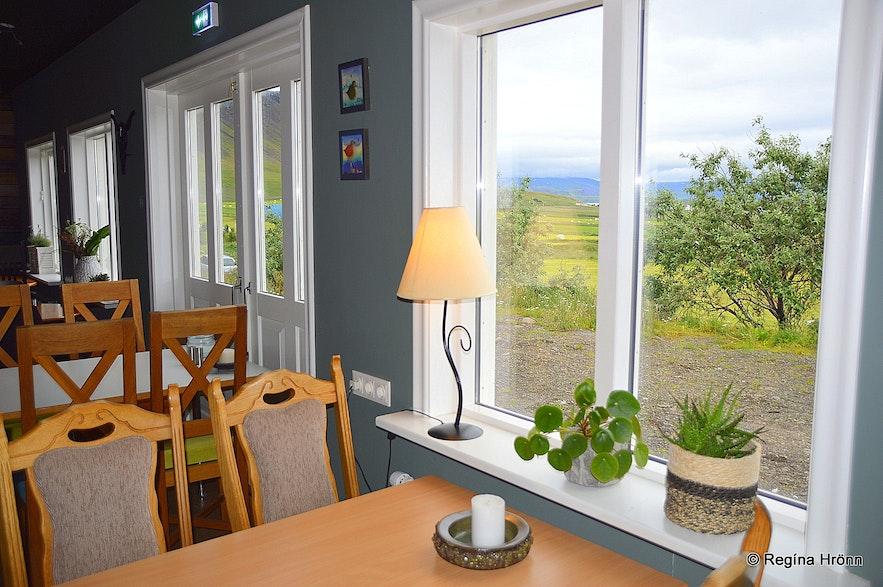 The café at Reykhólabúðin at Reykhólar village