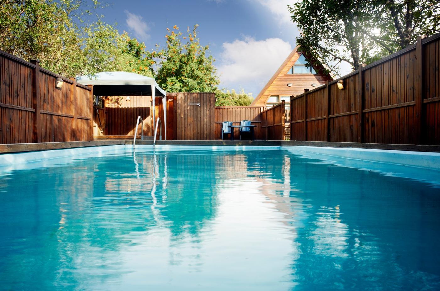 Birkihof Lodge has its own outdoor pool.
