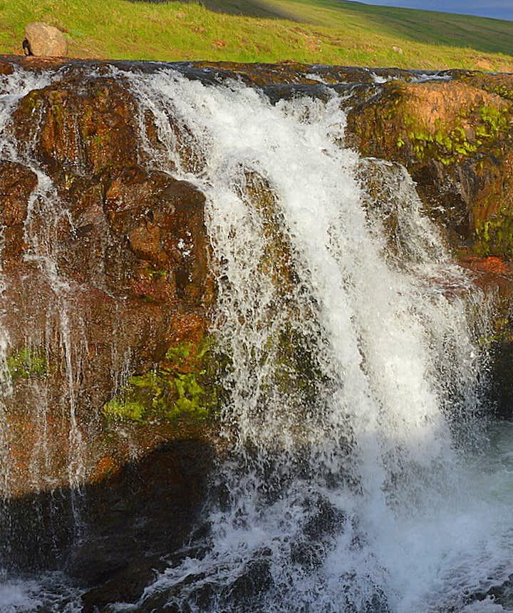 Kolufossar waterfalls in Kolugljúfur canyon