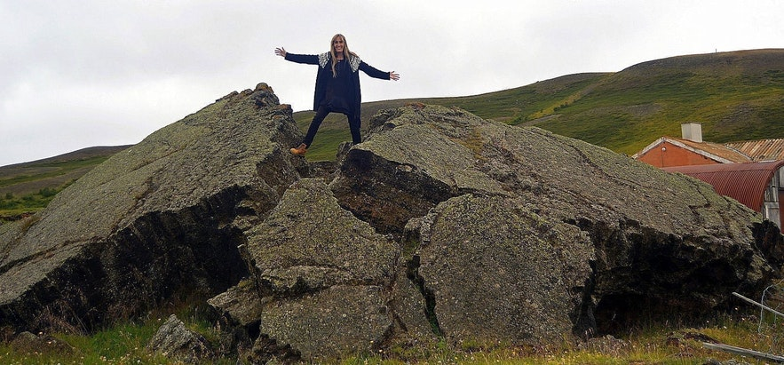 Lava field near the Reykjahlíðarkirkja in the Mývatn area