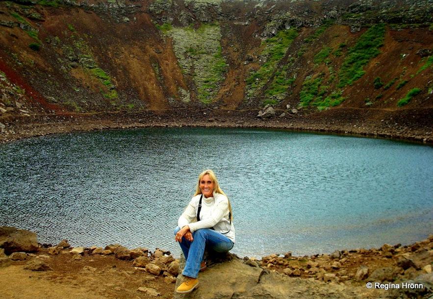 Regína by Kerið crater S-Iceland