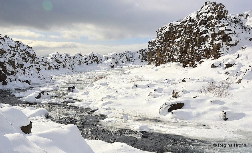 Öxará river at Þingvellir national park