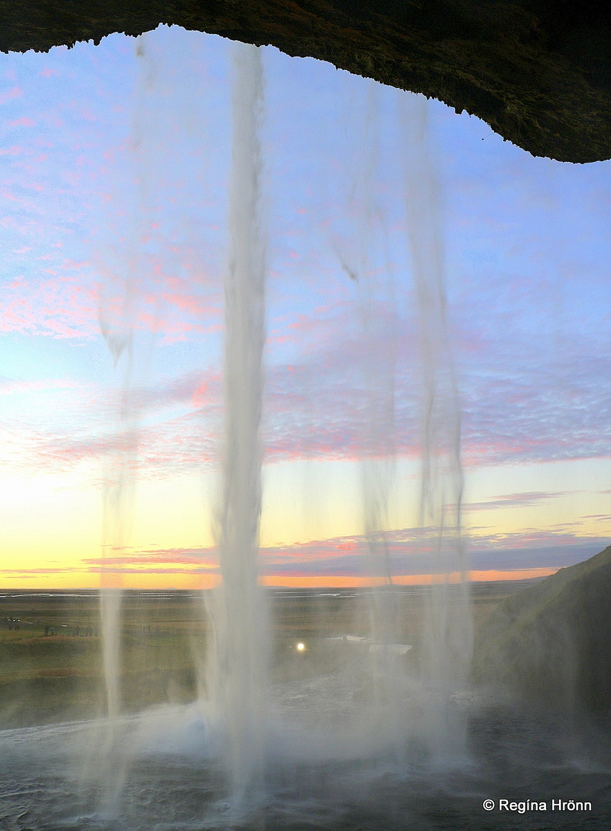 Seljalandsfoss - the view from behind the waterfall