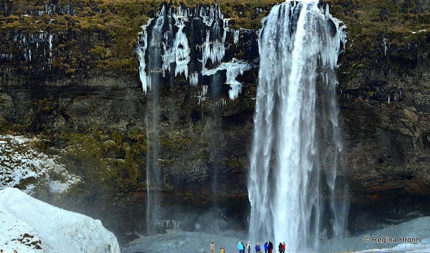 Seljalandsfoss in the wintertime