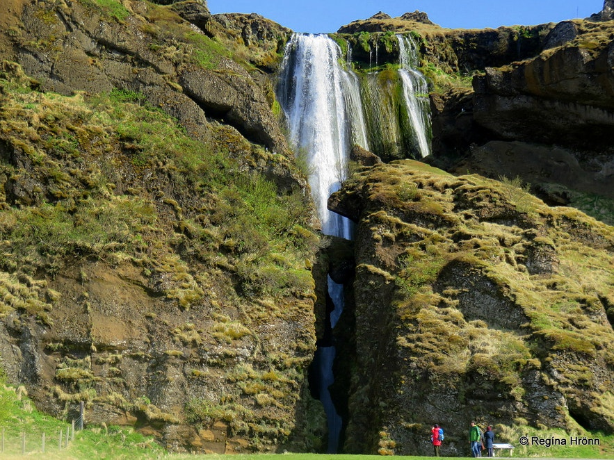 Gljúfrabúi waterfall