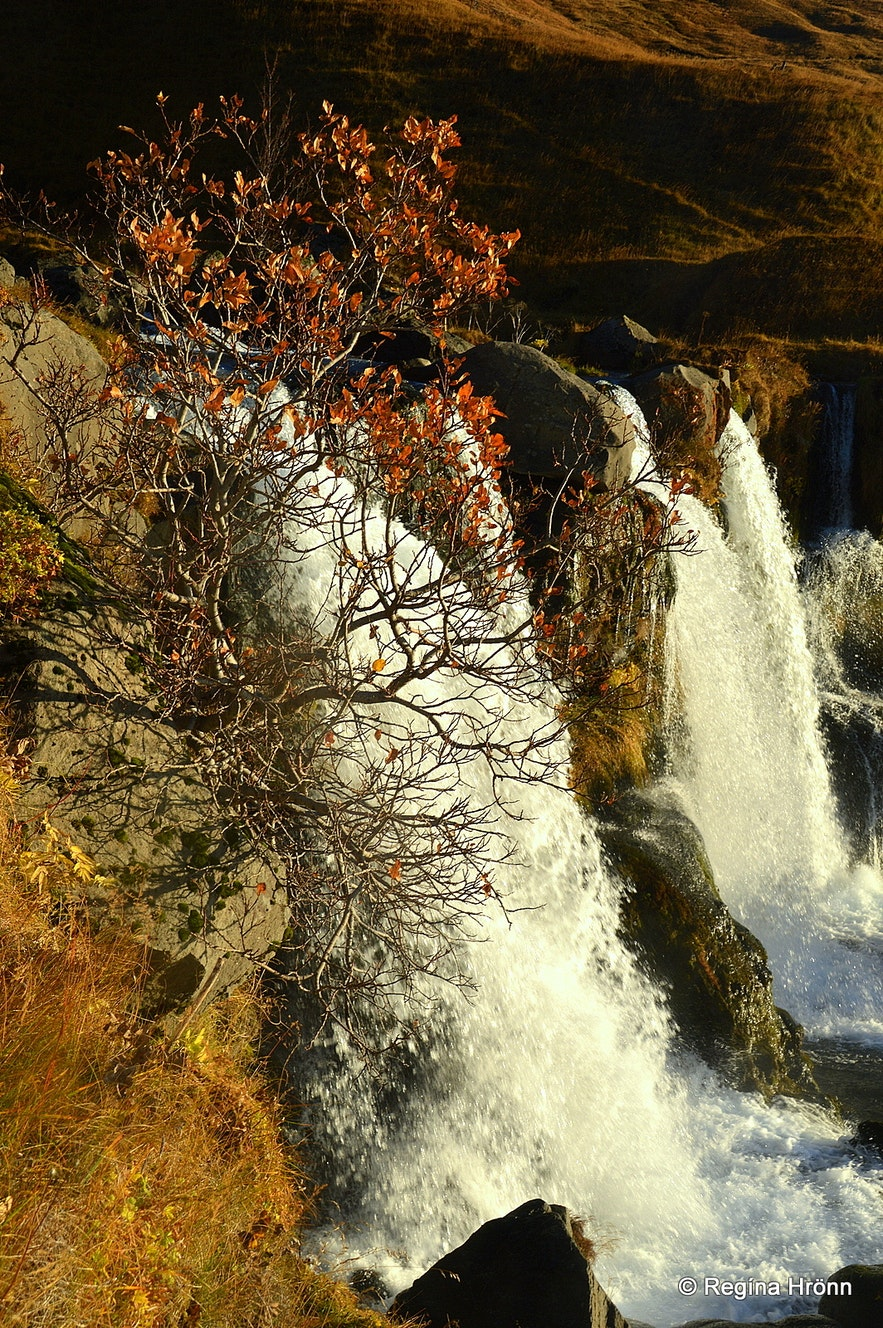 Gluggafoss waterfall in autumn