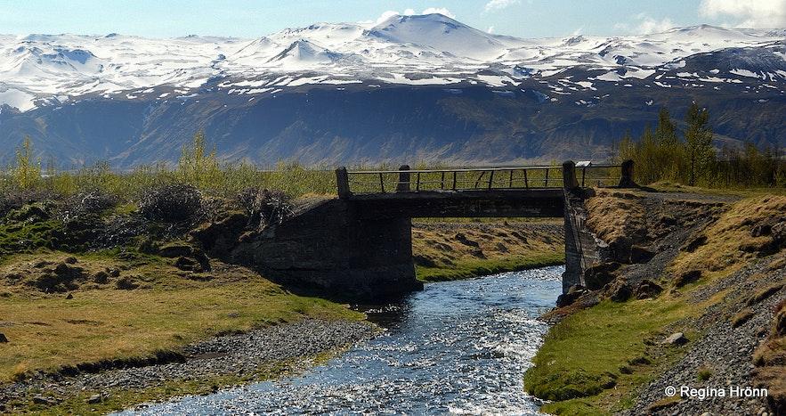 The old bridge over Merká river