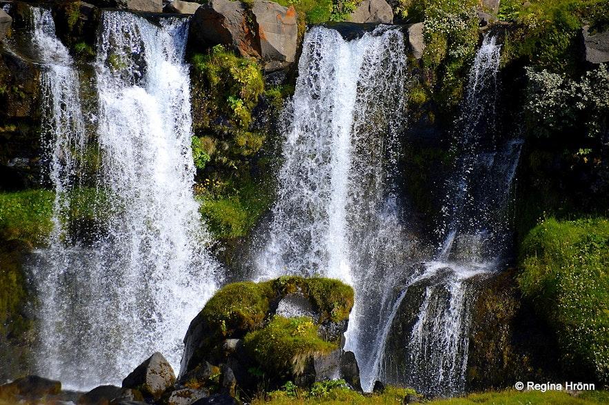 The lower cascade of Merkjárfoss