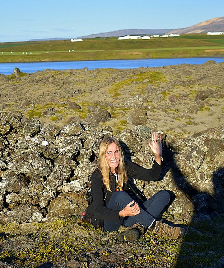 Regína in Berserkjahraun lava field Snæfellsnes peninsula