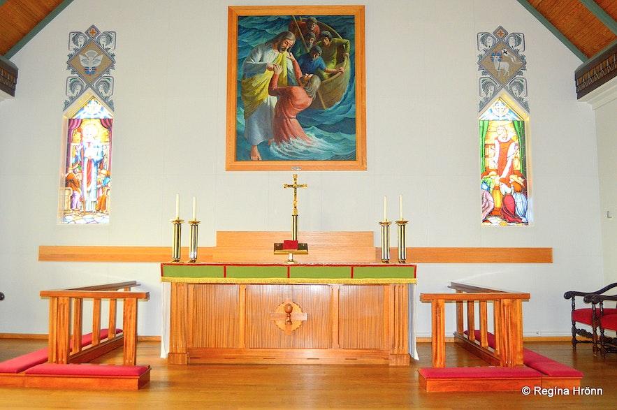 Inside Grundarfjarðarkirkja church