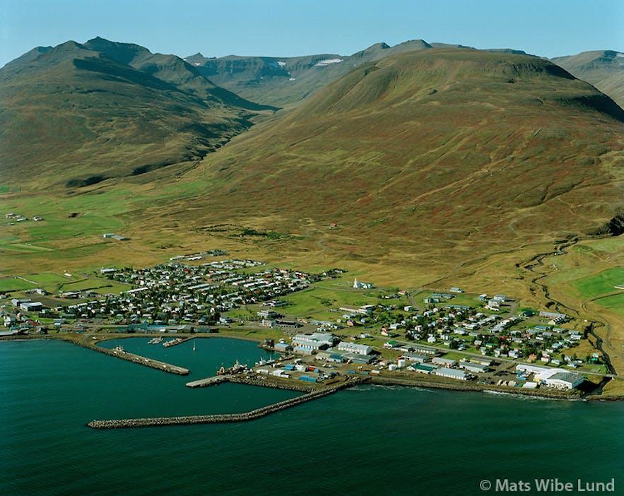 Dalvík, un pueblo pequeño en el norte de Islandia