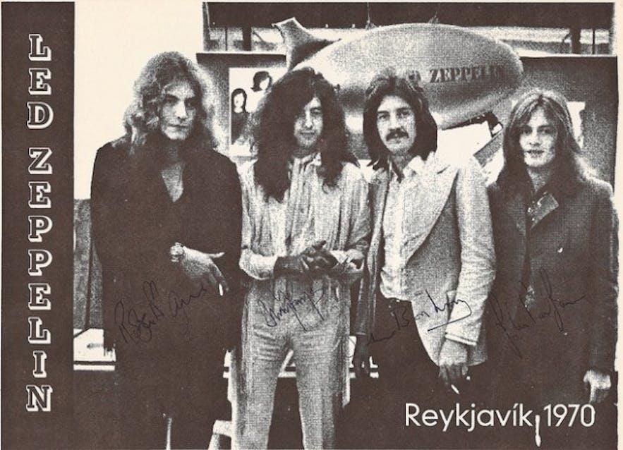 Группа Led Zeppelin в Рейкьявике, 1970 год