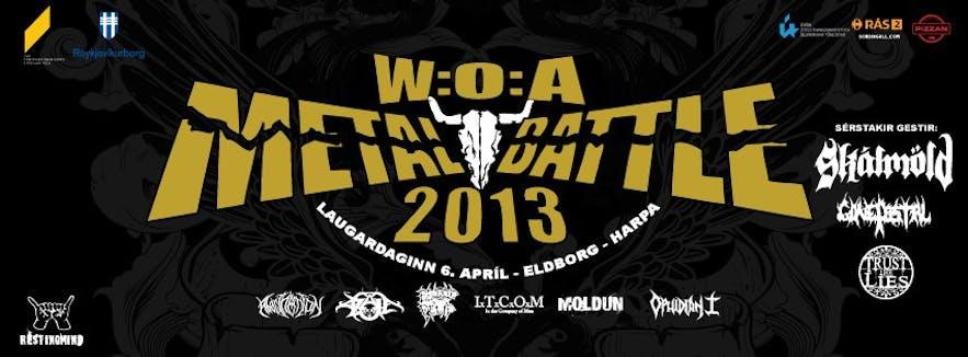 Wacken Metal Battle at Harpa. Special Guests: Skálmöld