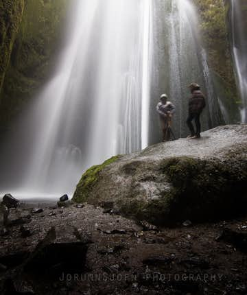 Gljúfrabúi waterfall in south Iceland