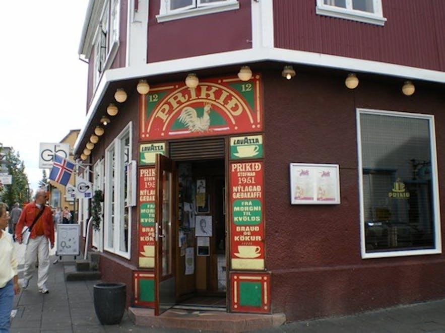 Prikid in downtown Reykjavik