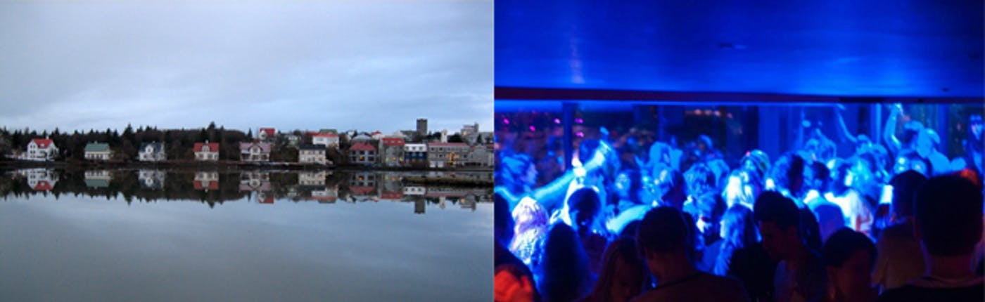 Reykjavik pond and nightlife