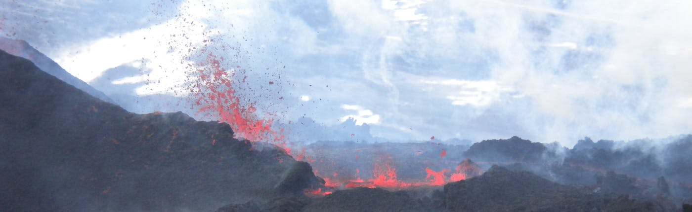 Up close and personal with a volcanic eruption