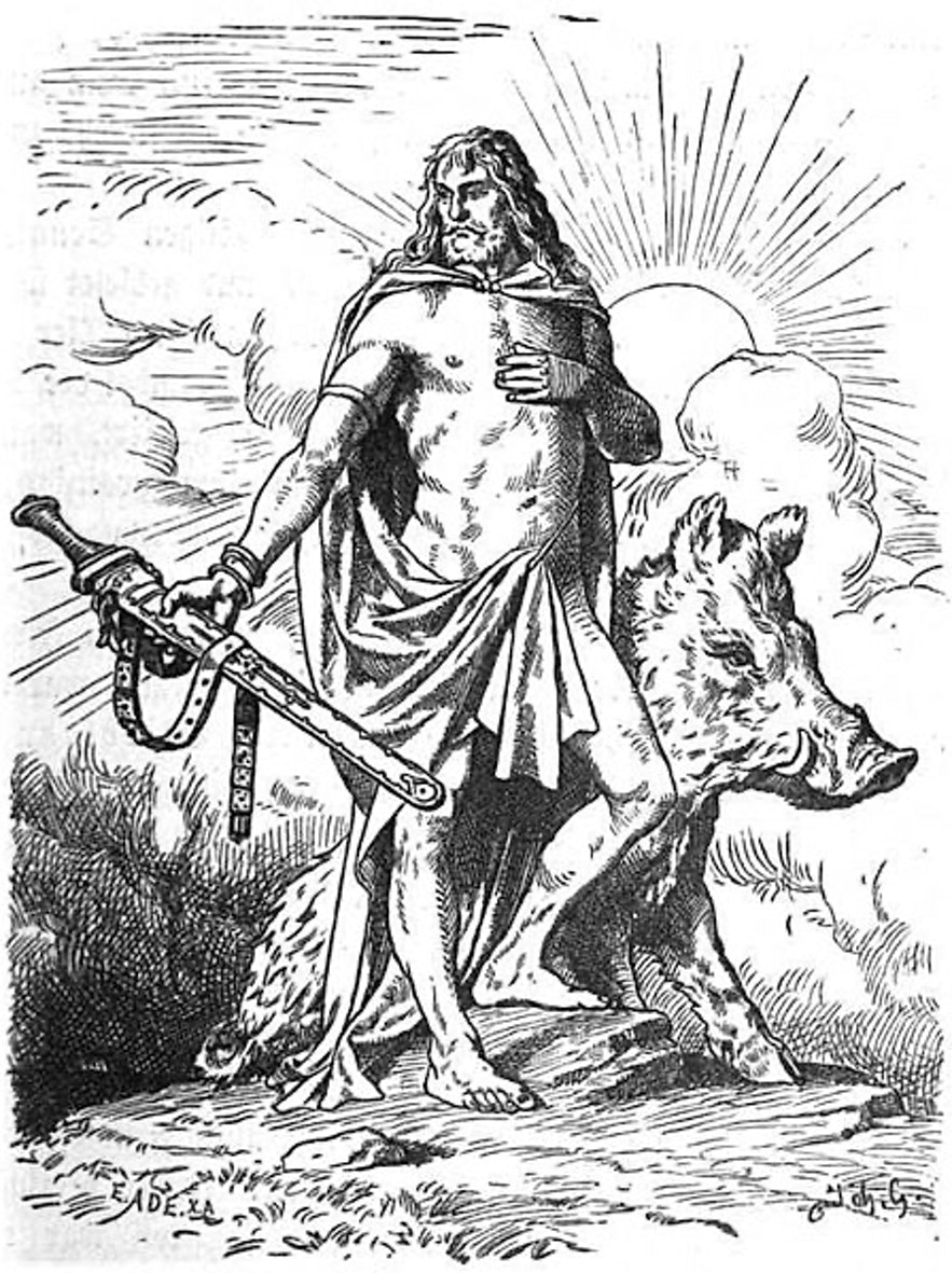 Freyr and his wild boar