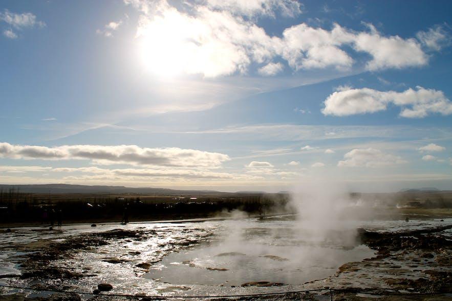 Photos of Gullfoss and Geysir